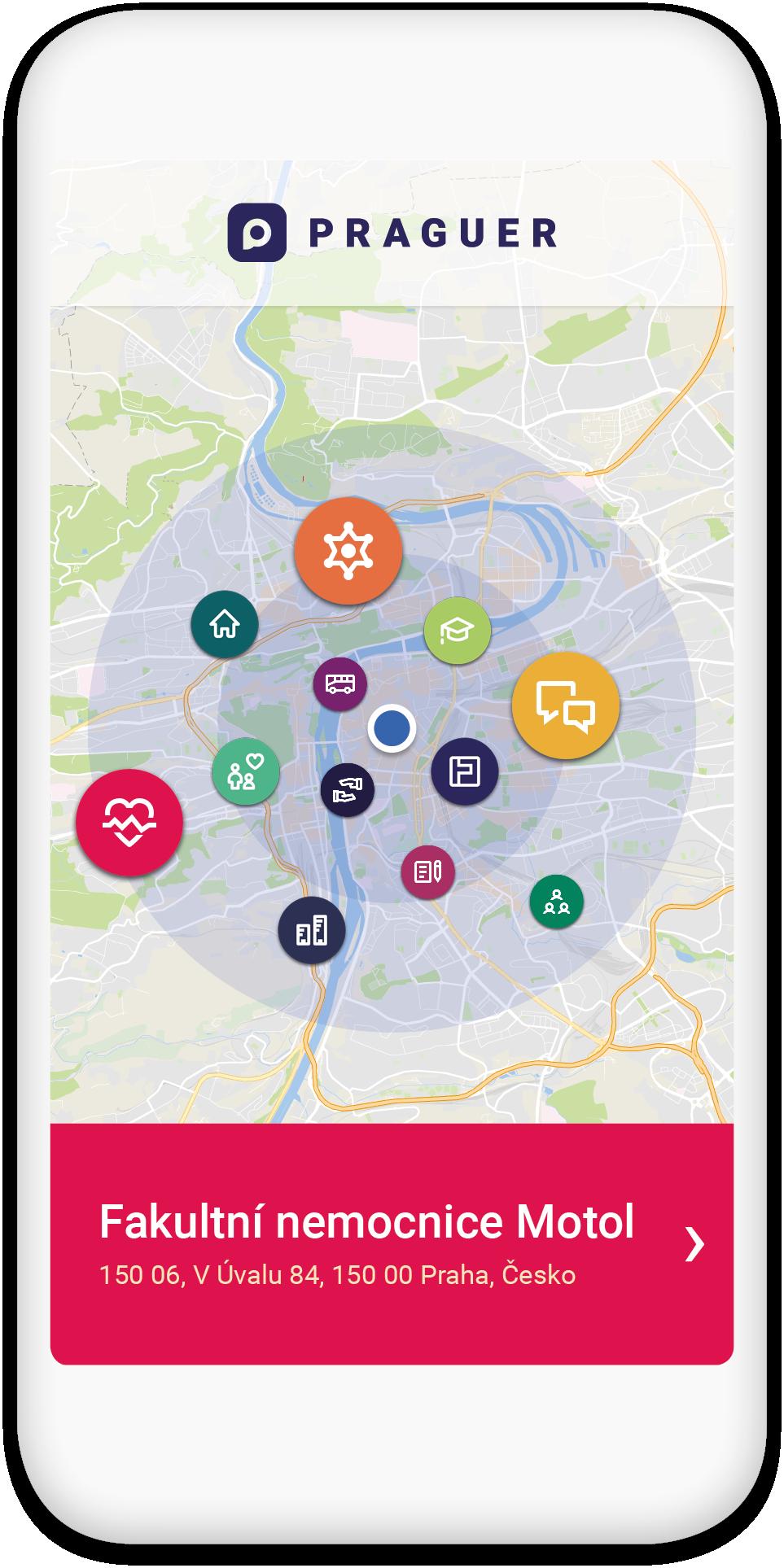 Aplikace Prague (mobil)